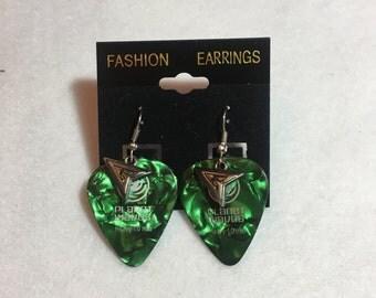 DC Green Arrow Guitar Pick Earrings