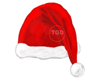 Santa hat clip art, santa hat clipart, Christmas Clip Art, Christmas Clipart, Christmas digital clipart, holiday clipart, digital download