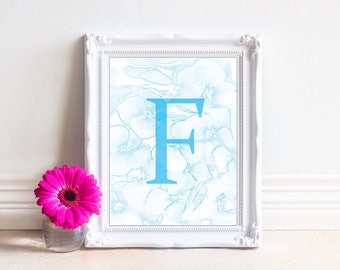 Alphabet Letters Printable, Letter F, Printable Monogram, Monogram Letters,Digital Letters, Digital Initial, INSTANT DOWNLOAD Printable Art