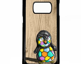 Penguin cute geometric shape pretty graphic pattern bird art rubber gel silicone cover for samsung galaxy s5 s6 s7 edge phone case cover