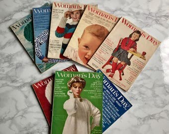 1960's Woman's Day Magazine Collection / Mid Century Magazine Collection / Set of Vintage Magazines