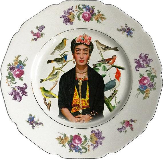 Oculus Mexican -Frida Kahlo - Vintage Porcelain Plate - #0428