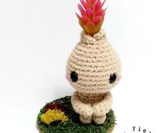 PRE-ORDER Bito, little bulb-kid (pink flower)