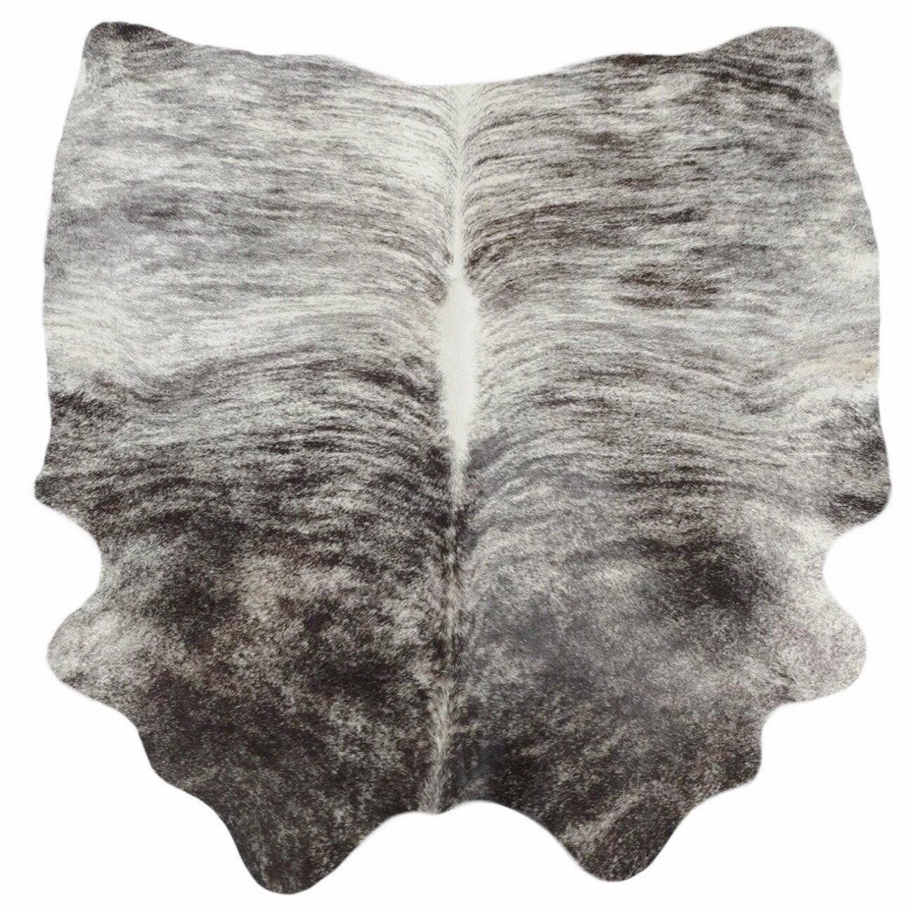 Cowhide Rug Cow Hide Leather Black White Gray Brindle