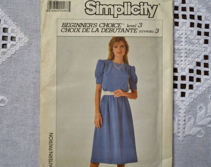 Simplicity Sewing Pattern 7907 Misses Dress Size 10 Fashion Clothing DIY Sewing  PanchosPorch