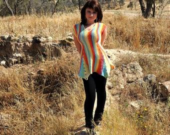 Knitted tunic  for women       Вязаная туника  для женщины