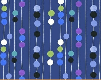 Half Yard Color and Count - Abacus in Navy Blue - Learning Cotton Quilt Fabric - by Jill McDonald for Windham Fabrics - 40671-1 (W3632)
