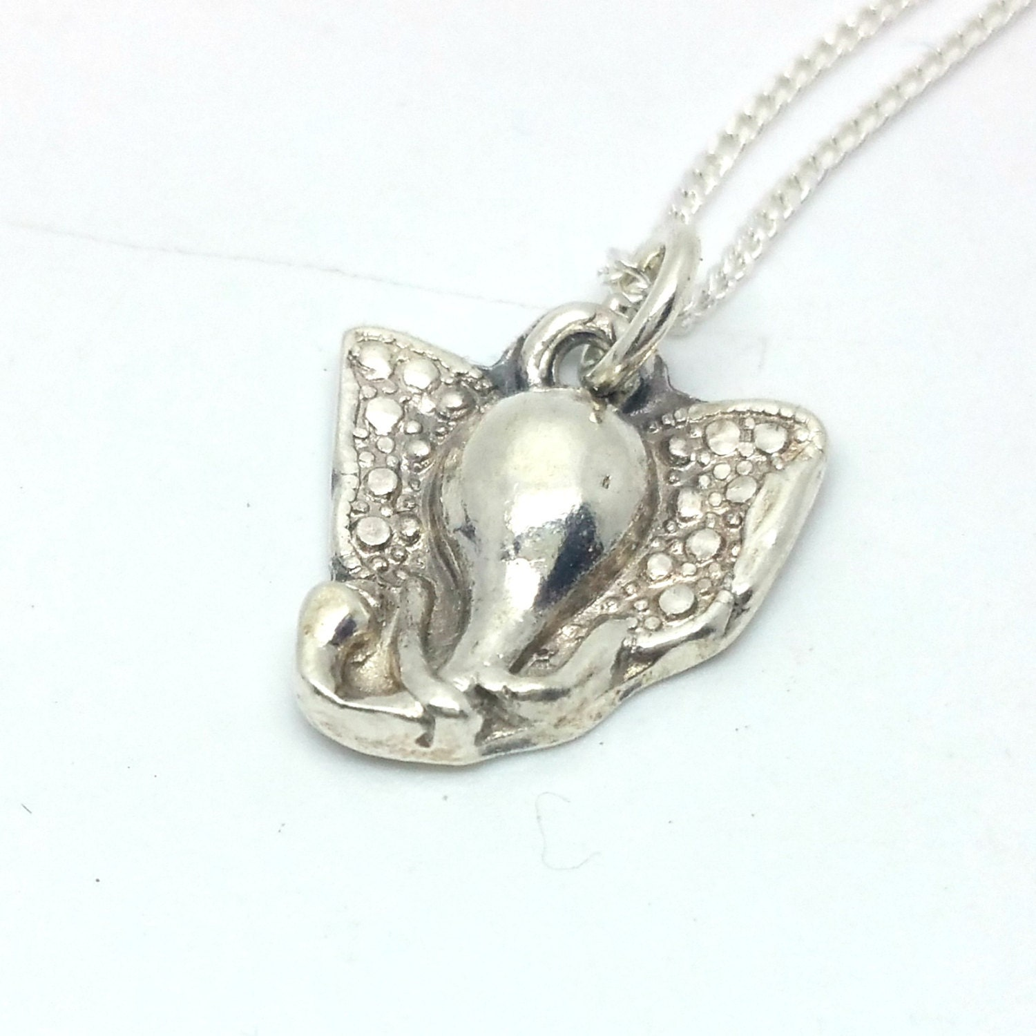 sterling silver elephant necklace handmade elephant by