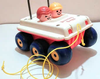 1970's Fisher Price Bouncing Buggy pull toy