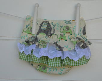 Baby and toddler frilly nappy cover - ruffle bloomers for little girls