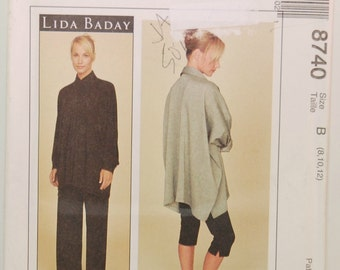McCall's 8740 Sewing Pattern (c. 1997) Lida Baday, Misses Sizes 8, 10 And 12, Misses Shirt, Pull-On Pants And Leggings, Stretch Knits
