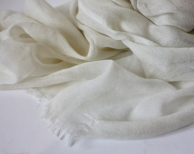 Natural Undyed Pure Wool Scarf