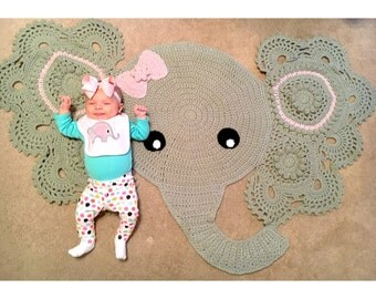 Crocheted Elephant Rug