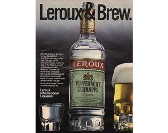 Vintage 1980 magazine ad for Leroux Peppermint Schnapps - 231
