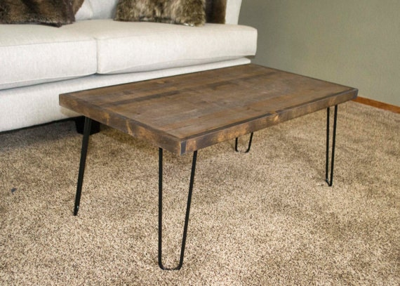 Rustic Modern Coffee Table Mid Century Modern Hairpin Leg