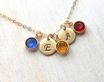 Mothers Day Birthstone Necklace, Family Tree Necklace, Mom Jewelry, Personalized Necklace in Gold Filled or Sterling, mothers day birthstone
