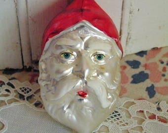 Vintage Figural Mercury Blown Glass Santa Christmas Ornament West Germany