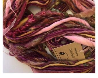 Hand Spun Super Slub Art Yarn - Knitting * Weaving * Crochet * Doll hair