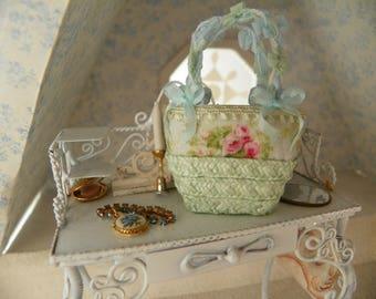 dollhouse miniature straw bag-Barbie and Blythe size ,scale1/6
