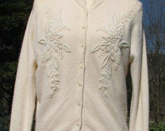 Vintage Cashmere Cardigan - Beaded - Herald