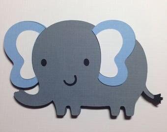 Elephant Baby Shower Decorations, 2 Inch Grey Elephant Die Cuts, Baby Boy  Shower,