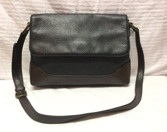 Leather and Co., Black Leather Purse, Bag, Shoulder Bag