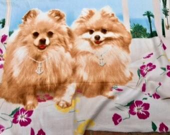 """Pomeranian, blanket, throw 50"""" x 66"""" ,soft,fleece"""