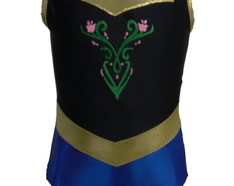 Frozen enchanted gymnastics leotard