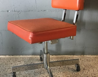 Mid Century Industrial Steelcase Rolling Office Chair
