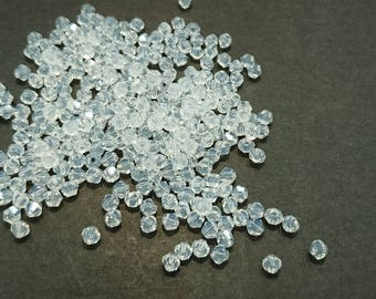 4mm Bicone Glass Bead, Opal, 700 Pieces Per Pack