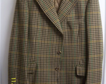 Moss Bros Authentic Vintage All Wool Tweed Hacking/Sports Jacket sz M