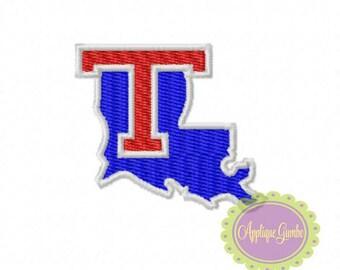 Louisiana Tech Fill Stitch  DIGITAL Machine Embroidery Design - INSTANT DOWNLOAD