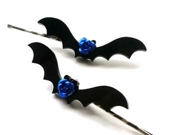 Gothic Bat Hair Clips