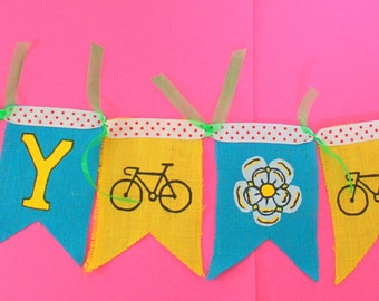 Yorkshire Bunting Garland Decoration Cycle Tour