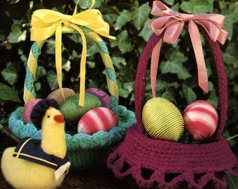 Crocheted Easter Basket Pattern - Instant Download PDF
