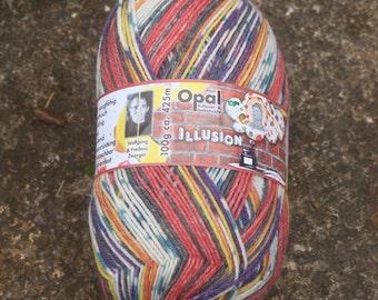 Ballerina 9314 - Opal Illusion - 4 ply self patterning sock yarn.