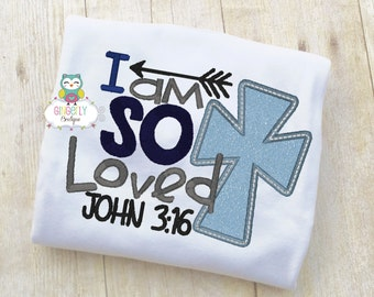 I am So Loved Shirt or Bodysuit, Religious Easter Shirt, Easter Shirt Religious, Easter is for Jesus Shirt, Easter Shirt