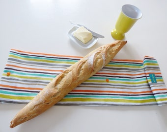 French bread bag, baguette tote, bakery, long bread bag,  bread storage, fabric bread bag, mylmelo, baguette bag, storag bag, eco friendly