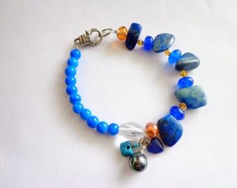 Artisan Lapis Luzuli Bracelet, Lapis Bracelet,Blue Bracelet,Healing Bracelet