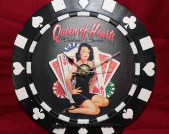 Poker Chip Clock