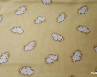 Flannel Fabric - Safari Elephants Tossed - 1 yard - 100% Cotton Flannel