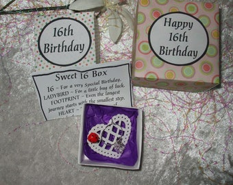 16th Birthday Box - Handmade, unique gift. Special Birthday, Coming of Age gift.