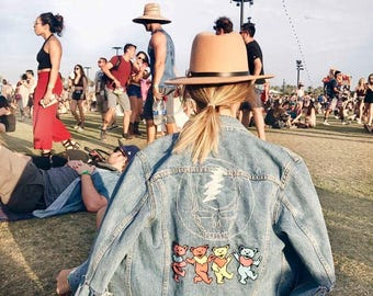 Grateful Dead Steal Your Face/Dancing Bears Denim Jacket