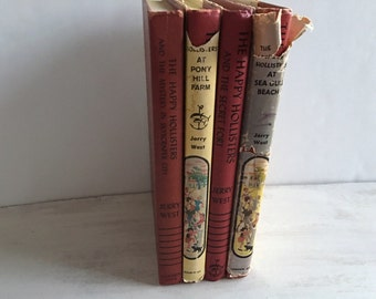 4 Vintage Happy Hollisters Books From the 1950s
