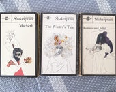William Shakespeare Set of Vintage books, Signet classic, Romeo and Juliet, Macbeth, The Winter's Tale, (1963, Paperback), Milton Glaser