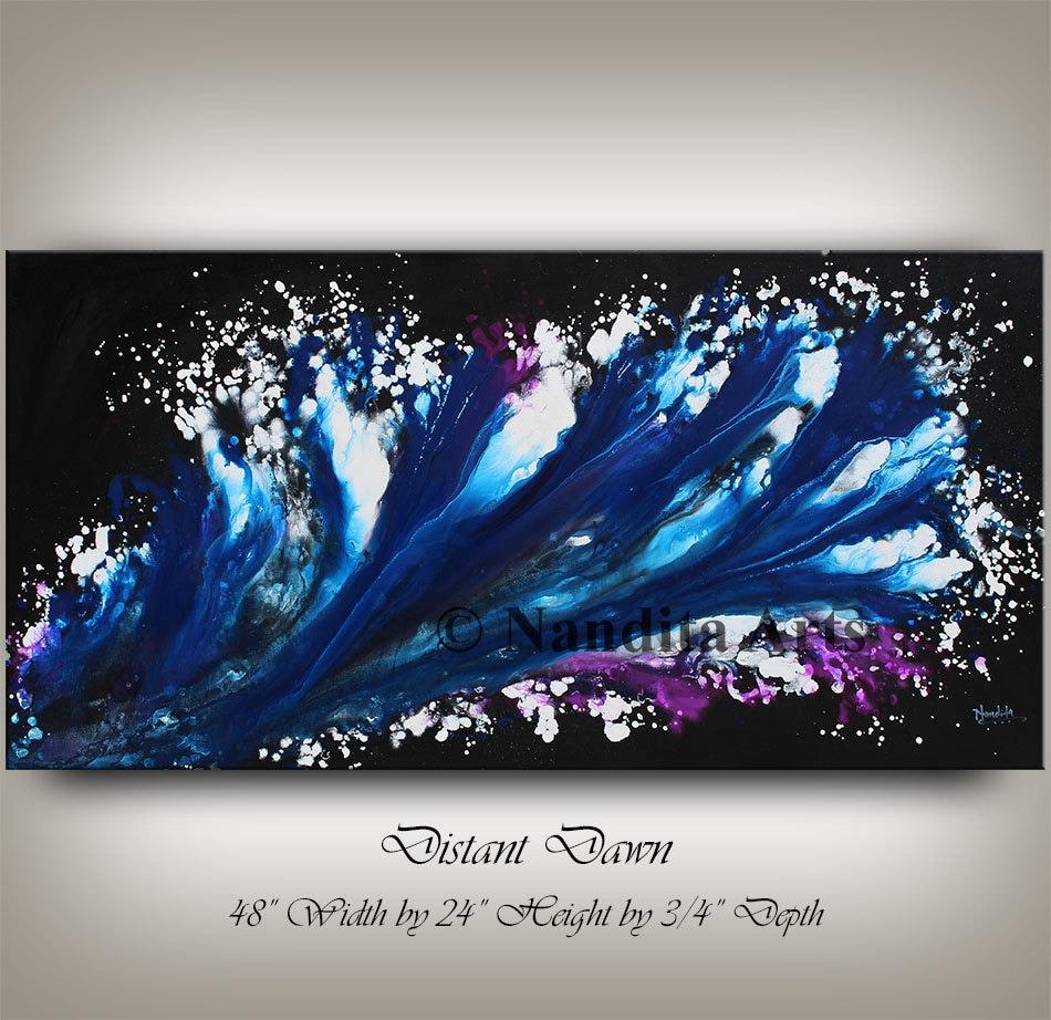 Blue Modern Painting Purple MODERN ART Contemporary Art