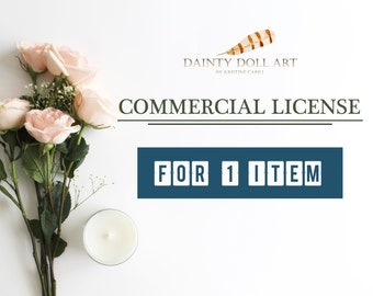 Commercial License for ONE item only - No Credit Required
