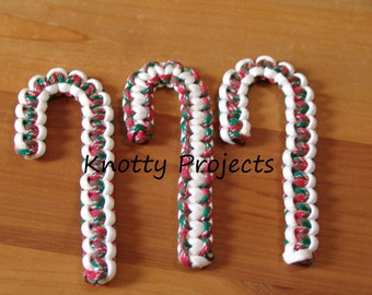 Paracord Candy Cane Ornaments