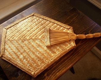 Large Bamboo Hand Fan