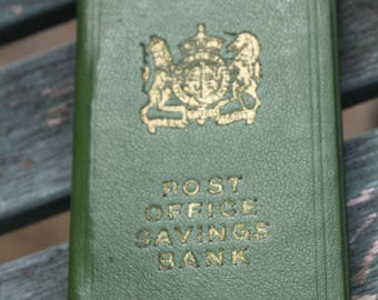 Post Office Savings Money Box.  Bank Safe Disguised as Leather Bound Book.   Made in England c1920s